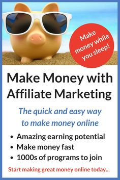 This is a real eye opener. I have been stuck trying to make money from ads, and I have been disappointed with how much I am making. I knew my blog really had the potential to be much more profitable than that, and now I can see that affiliate marketing is the way to do it. I have checked out some of these programs, and they often pay as much as 50 percent in commissions. That makes it really easy to make money online, and to turn your blog into a business that can support your family.