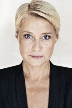 Danish actress Trine Dyrholm (b. 1972) in Odense. She is one of the best known actresses in Denmark