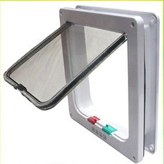 Door cat Gate Wall Replacement Sliding Flap Glass catsafe 4 way locking Lockable Cat Flap Door Kitten Dog Safe Lock cat safety M Size *** Check out this great image  : Cat Doors, Steps, Nets and Perches