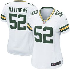 Women's Green Bay Packers Clay Matthews Nike White Game Jersey