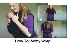 Moby Wrap Tutorial - Newborn Hold - YouTube
