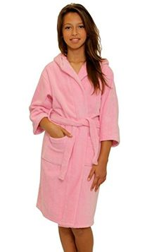 TowelRobes Kids Terry Velour Hooded Bathrobe Boys Sleepwear b03b02455