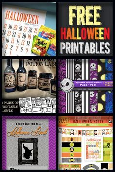 Holidays and Events. FREE Halloween Printables!  http://howdoesshe.com