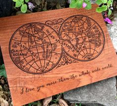 Handmade Wood Sign I Love You to The Mountains and Back Sawyers Mill 4 in x 12 in x 3//4 in Thick Solid Hardwood