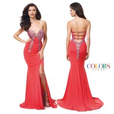 Lady in Red! COLORS DRESS Style 1187 #sexy #gown #red #prom #formal