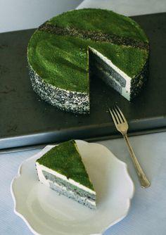 Black Sesame Matcha Mousse Cake | ForkToBelly.com