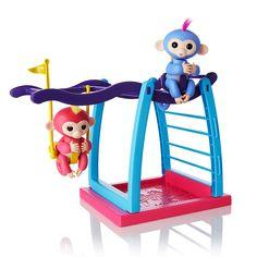 """Ensemble de jeu WowWee Fingerlings - Barre/balançoire pour singe avec 1 jouet bébé singe Fingerling - Wow Wee - Toys""""R""""Us"""