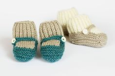 Knitted Baby Booties. $14.00, via Etsy.