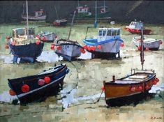 View all Richard DACK art, paintings and contemporary British art at the Red Rag art gallery Boat Painting, Painting & Drawing, St Ives Cornwall, Marine Boat, Fishing Boats, Art Gallery, Karma, Contemporary, Landscape