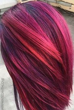Love Hair Dye Colors, Cool Hair Color, Bright Hair, Colorful Hair, Hair Today, Purple Hair, Hair Dos, Pretty Hairstyles, Dyed Hair