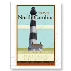 Travel North Carolina Post Cards from Zazzle.com