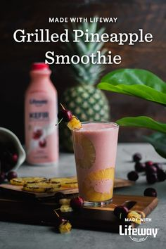 Fire up the grill and get ready for Smoothie Saturday! Our Grilled Pineapple Cherry Smoothie has bright tropical flavors, tangy kefir, and deliciously tart cherries – it tastes like vacation. Healthy Food Choices, Healthy Recipes, Cream Soda, Ice Cream, Cherry Smoothie, Farmers Cheese, Cherry Tart, Kefir, Food Allergies