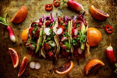 Blood Orange Honey Ginger Glazed Pork Tacos | Heather Christo