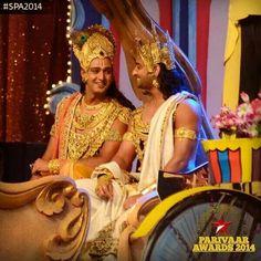 Krsna & Arjun at star parivar