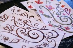 DecoArt Ink Effects review and custom place setting project tutorial - 100 Directions