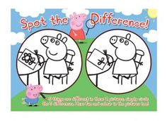 Peppa Pig spot the difference! Find hundreds more fun, free activities at iChild.co.uk