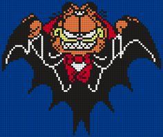 Halloween Vampire Garfield by Maninthebook on Kandi Patterns
