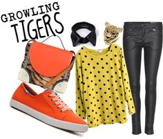 """GROWLING TIGERS"" by ninapaz27 on Polyvore"