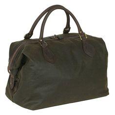 Barbour Wax Cotton Travel Explorer Bag, Olive. £130