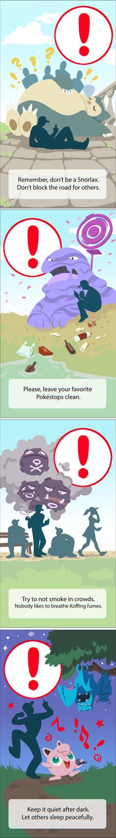 New Pokémon GO Warning Screens by Magdalena Proszowska