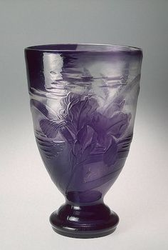 E.GALLÉ__ Vase Decorated with Irises Workshop of Emile Galle, France, Nancy. 1898. Hermitage Museum.