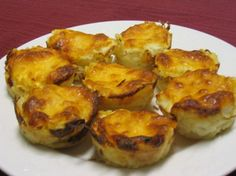 Twice Baked Mini Potato Dauphinoise - Potato Gratin Muffins.