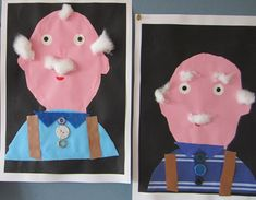 Family- grandpa craft, so cute! Preschool Arts And Crafts, K Crafts, Kindergarten Crafts, Daycare Crafts, Family Theme, Family Day, Games For Kids, Art For Kids, Projects For Kids