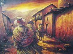 Imagen relacionada Peruvian Art, South American Art, Naive Art, Folk, Illustration, Pictures, Painting, Create, Amanda
