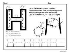 letter tracing worksheets | letter h