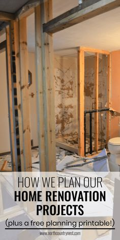 Home Remodeling Plans how we plan our home renovations, planning tips, reno planning, how to plan a renovation Home Improvement Loans, Home Improvement Projects, Home Projects, Easy Projects, Home Renovation Loan, Moving Walls, Design Your Dream House, House Design, Basement Remodeling