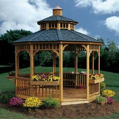 37 Stunning Gazebo Decorating To Make Your Backyard. Install an outdoor gazebo and revel in your backyard like you can't ever have before. If you think that your backyard is too open to curious onlookers. Gazebo Pergola, Round Gazebo, Gazebo Plans, Outdoor Gazebos, Steel Pergola, Garden Gazebo, Pergola Shade, Outdoor Structures, Gazebo Ideas