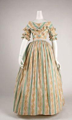 Morning dress ca 1837 via The Costume Institute of the Metropolitan Museum of Art