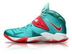 Free Shipping Only 69  Nike Zoom Soldier VII Atomic Turquoise Sport Red  White 6b392f77f8