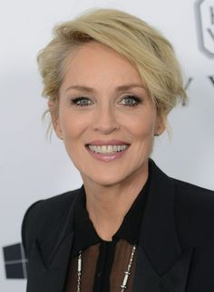 Short Hair Cuts For Women, Short Hairstyles For Women, Celebrity Hairstyles, Cool Hairstyles, Short Hair Styles, Short Haircuts, Sharon Stone Hairstyles, Sharon Stone Photos, Blonde Bobs