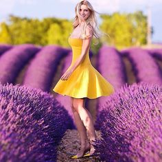 Zhanna Bianca @zhanna_bianca | Websta (Webstagram) Sweet Dress, Pretty Dresses, Lavender, Strapless Dress, Fancy Clothes, Yellow, Purple, Summer, Photography
