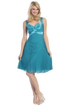 Blue Corset Straps Knee-length Sleeveless Homecoming Dress HD14D7