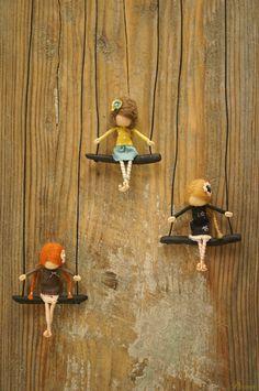 Vintage style OOAK fairy necklace by DORIMU on Etsy