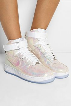 nike wmns air force 1 hi premium iridescent pearl collection