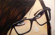 #Drawing #woman #glases #promarker #moleskine