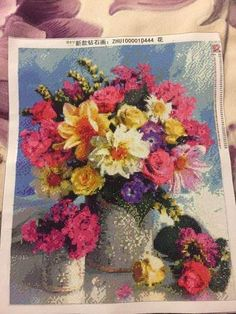 Shop for Colorful Flowers Diamond Painting Kit at Pretty Neat Creative with ✅ Softest canvas, Sparkliest beads ✅ Most Durable Package ✅ WARRANTY. Buy Now! Gem Crafts, Types Of Craft, Bright Flowers, 5d Diamond Painting, Painting Tools, Diamond Art, Love Craft, Painting Patterns, Make It Yourself