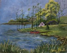 Gedda Runyon Starlin, Scout Point at Rainbow Lake on ArtStack #gedda-runyon-starlin #art