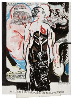 As he hung (2009) by Raymond Pettibon. Shown at the exhibition 'The Crime Was Almost Perfect' in Witte de With, Rotterdam, 2014.