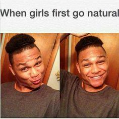 LOL a little natural hair humor