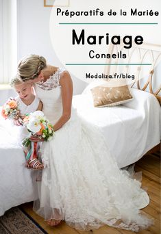 preparatifs de la mariee et details mariage conseils details idees robe de mariee enfants des maries temoins qui habille la mariee sur le blog modaliza photographe