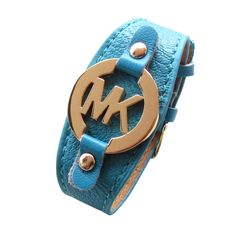 Michael Kors Leather Logo Blue Accessories Outlet