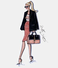 Hayden Williams Fashion Illustrations: Style On The Go: 'Coral Cool' by Hayden Williams