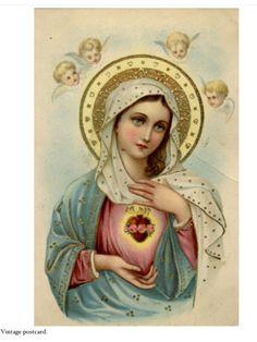 Sacred Heart vintage postcard