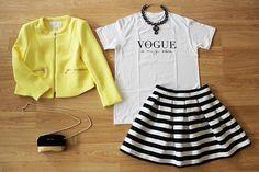 ¿QUÉ ME PONGO? LOOK Black & White con toque de color para conseguir un outfit fresco y chic  > www.colettemoda.com/shop