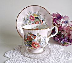 Tea Cup and Saucer Paragon Tea Cup and Saucer by treasurecoveally, $20.00