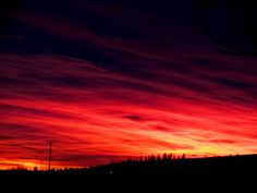 Incredible red skies over the West Plains area of Spokane County Washington